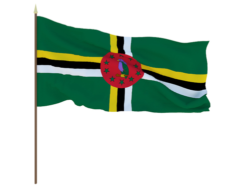 National flag of Dominica. Background for editors and designers. National holiday Stockfoto