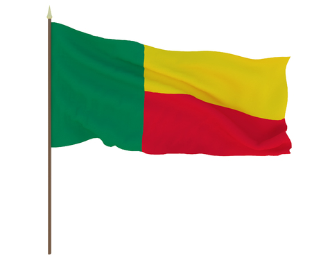 National flag of Benin. Background for editors and designers. National holiday