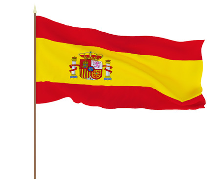 National flag of Spain. Background for editors and designers. National holiday