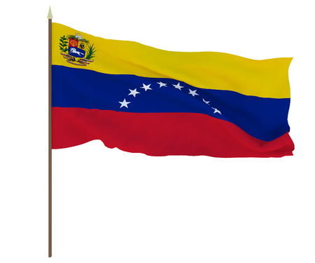 National flag of Venezuela. Background for editors and designers. National holiday