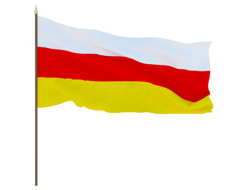 National flag of South Ossetia. Background for editors and designers. National holiday