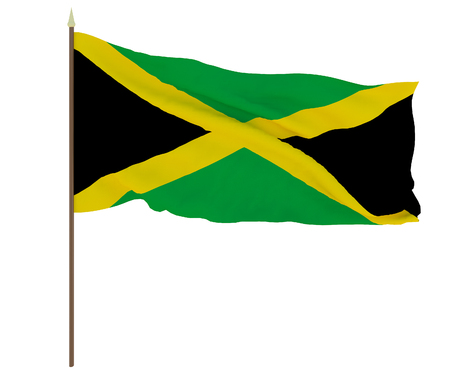 National flag of Jamaica. Background for editors and designers. National holiday