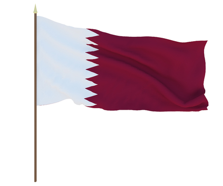 National flag of Qatar. Background for editors and designers. National holiday
