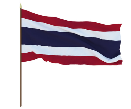 National flag of Thailand. Background for editors and designers. National holiday