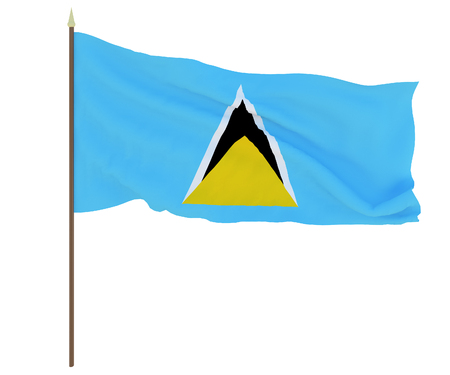 National flag of Saint Lucia.. Background for editors and designers. National holiday