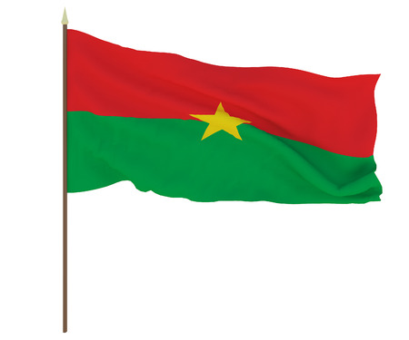 National flag of Burkina Faso.. Background for editors and designers. National holiday