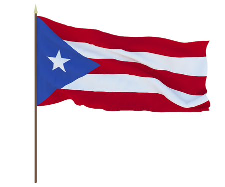 National flag of Puerto-Rico. Background for editors and designers. National holiday