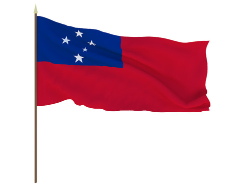National flag of Samoa. Background for editors and designers. National holiday Stockfoto