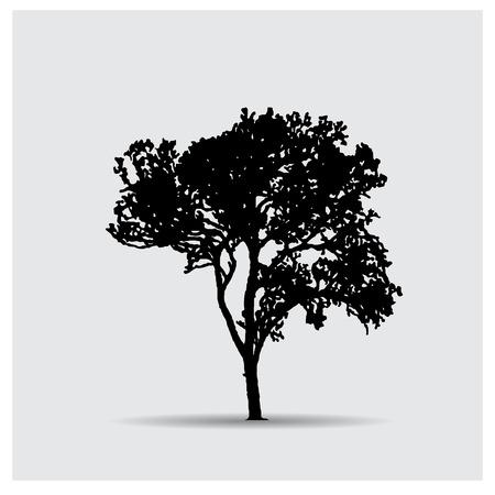 large tree: tree silhouettes