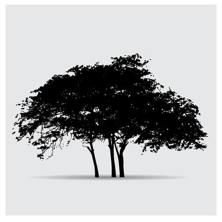big tree: tree silhouettes