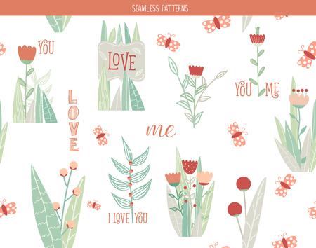 romantic: Romantic floral seamless pattern Illustration