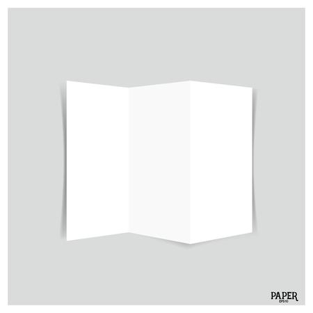 threeleaf: Blank three-leaf brochures, Blank tri fold paper brochure mockup. Vector illustration.