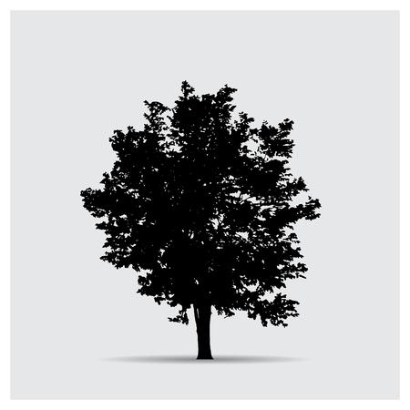 Las siluetas de árboles vectorial Ilustración de vector