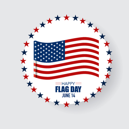 summer holidays: Happy Flag Day background template