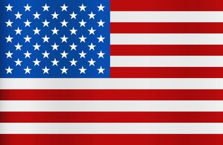 united state: United State of America Flag. Vector illustration.