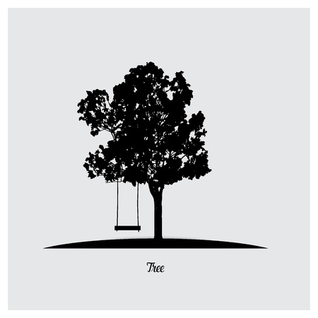 tree silhouettes: Vector tree silhouettes. Illustration