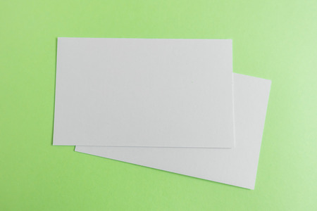 businesscard: Blank business card, postcard with soft shadows.