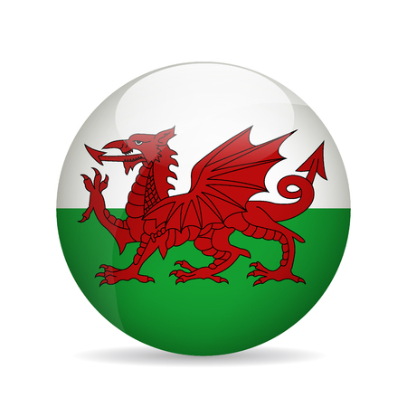 wales: Flag of Wales. Vector illustration Illustration