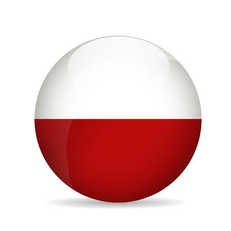 Flag of Poland. Vector illustration