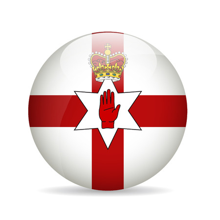 northern ireland: Flag of Northern Ireland. Vector illustration