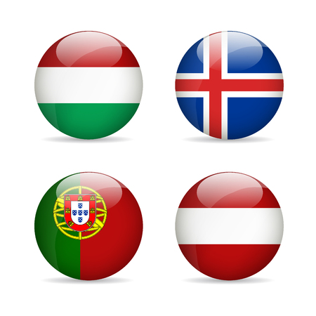 austria flag: Flags of Europe. Vector illustration