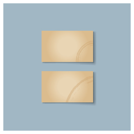 blank business card: Blank business card with soft shadows. Vector illustration. Illustration