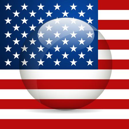united state: United State of America Flag. Vector illustration