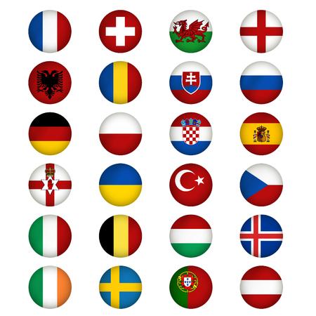 czech switzerland: Bandiere d'Europa. Illustrazione vettoriale.