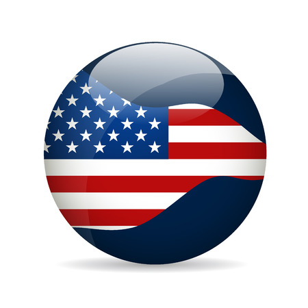 forth: United State of America Flag. Vector illustration