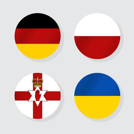 Flags of Europe. Vector illustration. Illustration