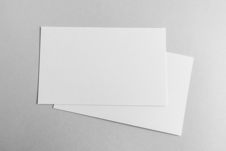 businesscard: Blank business card, postcard with soft shadows Stock Photo