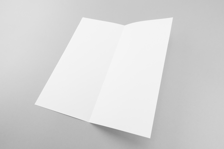 Blank white template paper with soft shadows Banco de Imagens