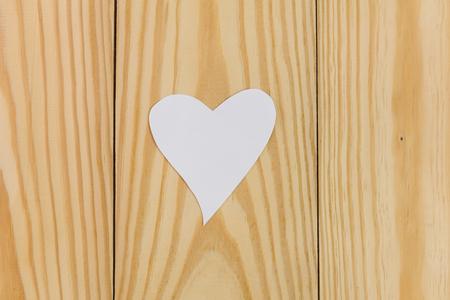Gift card notes on wood background Banco de Imagens