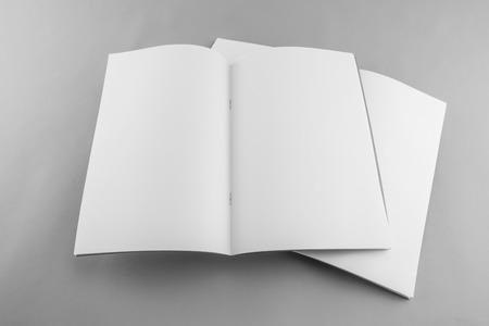 Blank catalog, magazine, book template with soft shadows. Ready for your design. Banco de Imagens