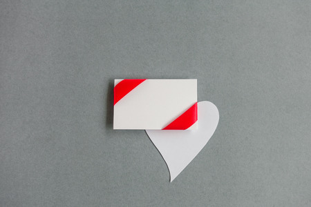 Gift card notes with red ribbons Banco de Imagens