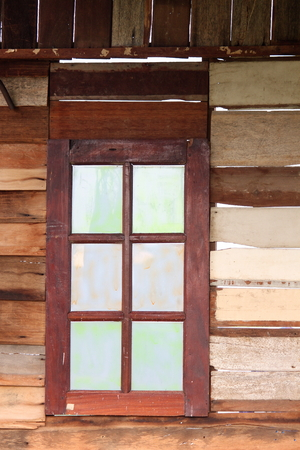 windowpane: wooden window Stock Photo