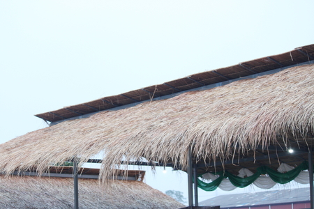 thatch: a thatch roof Stock Photo