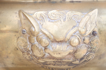 pinchbeck: brass lion