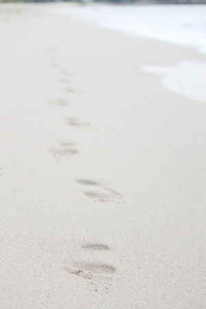 footprints sand: Footprints in the Sand Stock Photo