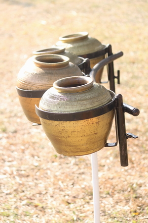thai musical instrument: pot of gold Stock Photo