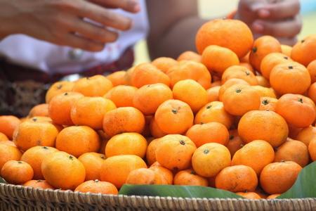 acidic: orange