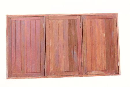 wooden partition: windows