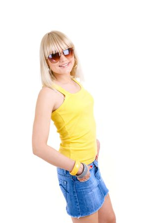 careless: careless girl in sunglasses