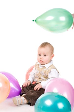 small boy with balloons Stock Photo - 3009699