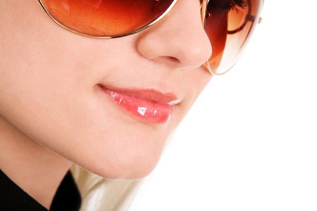 portrait of smiling girl in sunglaseese Stock Photo - 3112642