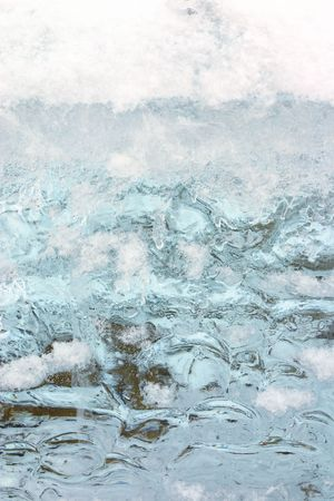 winter snow and blue ice (background, texture) photo