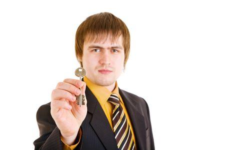businessman with key Stock Photo - 3177326