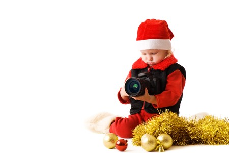 child with camera photo