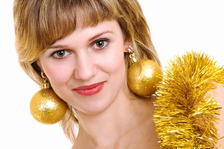 decotated: girl decotated for Cristmas