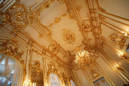 golden ceiling in the palace photo